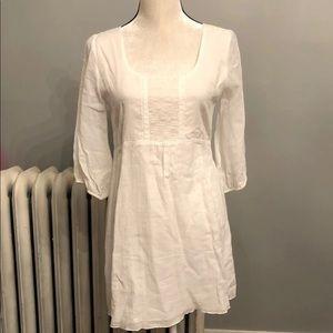 White peasant dress small